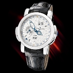 Ulysse Nardin GMT Perpetual (Platinum / Silver / Leather)