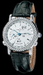 Ulysse Nardin GMT Perpetual (WG / Silver / Diamonds / Leather)