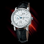 Ulysse Nardin GMT Perpetual (WG / Silver / Leather)