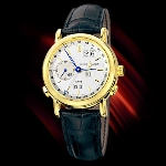 Ulysse Nardin GMT Perpetual (YG / Silver / Leather)