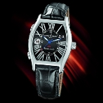 Ulysse Nardin Michelangelo UTC (SS/ Black-Roman / Leather)