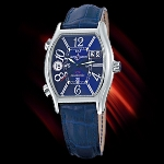 Ulysse Nardin Michelangelo UTC (SS/ Blue-Arabic / Leather)