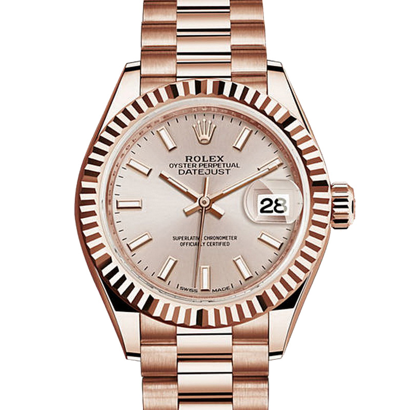 rolex oyster perpetual lady datejust 28 279175 everose gold. Black Bedroom Furniture Sets. Home Design Ideas