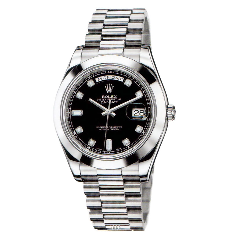 Rolex Oyster Perpetual Day,Date II 218206 bkdp at www.watcharena.com